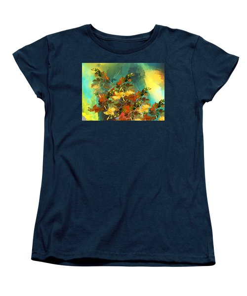 Women's T-Shirt (Standard Cut) featuring the digital art Botanical Fantasy 090914 by David Lane
