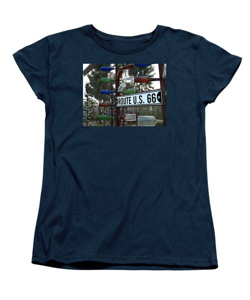 Bottle Trees Route 66 Women's T-Shirt (Standard Cut) by Glenn McCarthy Art and Photography