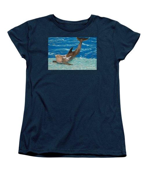 Bottlenose Dolphin Women's T-Shirt (Standard Cut) by DejaVu Designs