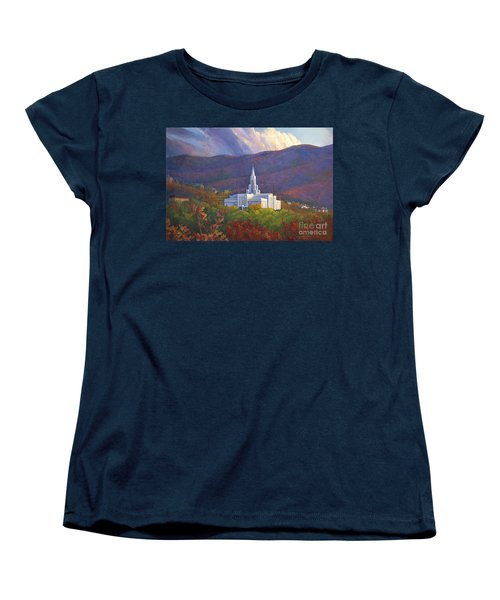 Bountiful Temple In The Mountains Women's T-Shirt (Standard Cut) by Rob Corsetti