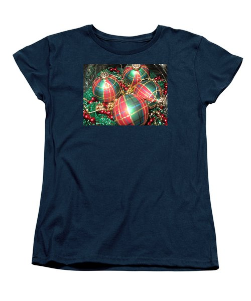 Women's T-Shirt (Standard Cut) featuring the photograph Bowl Of Christmas Colors by Barbara McDevitt
