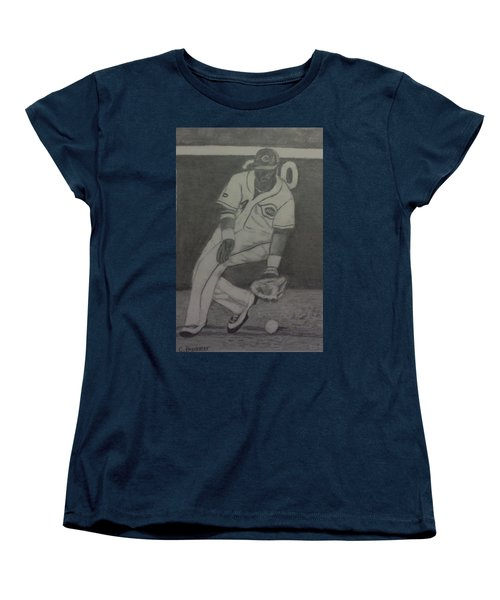 Women's T-Shirt (Standard Cut) featuring the drawing Brandon Phillips by Christy Saunders Church