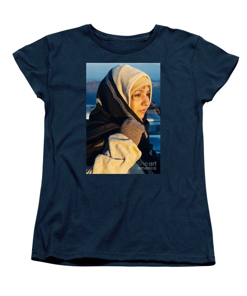 Women's T-Shirt (Standard Cut) featuring the photograph Braving The Cold by Fotosas Photography