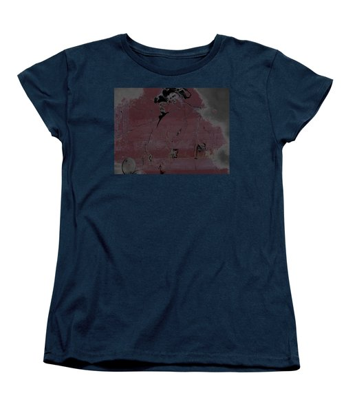 Women's T-Shirt (Standard Cut) featuring the digital art Breaking Bad Concrete Wall by Brian Reaves