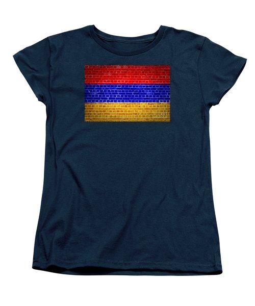 Brick Wall Armenia Women's T-Shirt (Standard Cut) by Antony McAulay