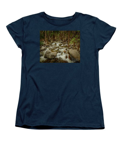 Bridalveil Creek In Yosemite Women's T-Shirt (Standard Cut) by Terry Garvin
