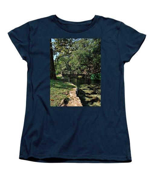 Bridge Of Serenity Women's T-Shirt (Standard Cut) by Judy Vincent