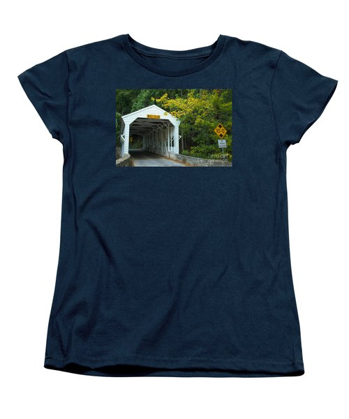 Women's T-Shirt (Standard Cut) featuring the photograph Bridge On Route 252 In Valley Forge by Rima Biswas