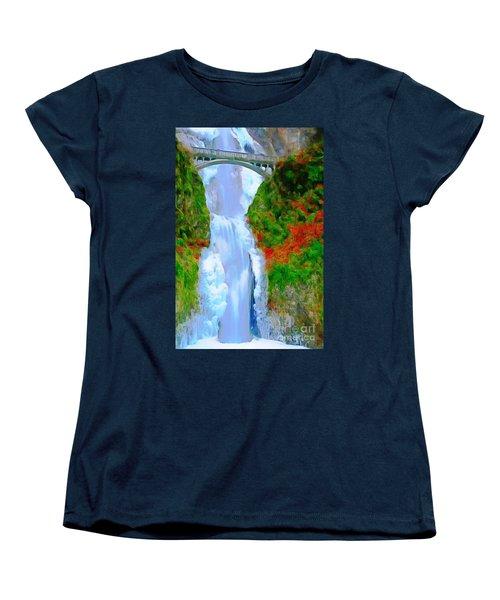 Bridge Over Beautiful Water Women's T-Shirt (Standard Cut) by Catherine Lott