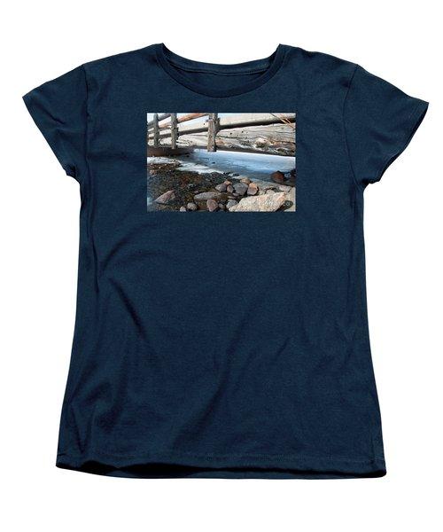Women's T-Shirt (Standard Cut) featuring the photograph Bridges by Minnie Lippiatt