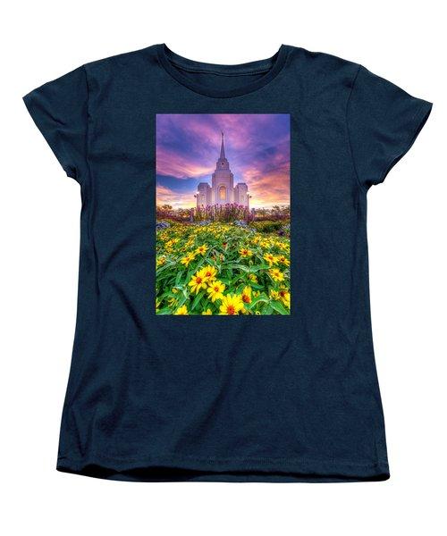 Brigham City Temple Women's T-Shirt (Standard Cut) by Dustin  LeFevre