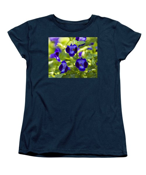 Brilliant Blues  Women's T-Shirt (Standard Cut) by Walter Herrit