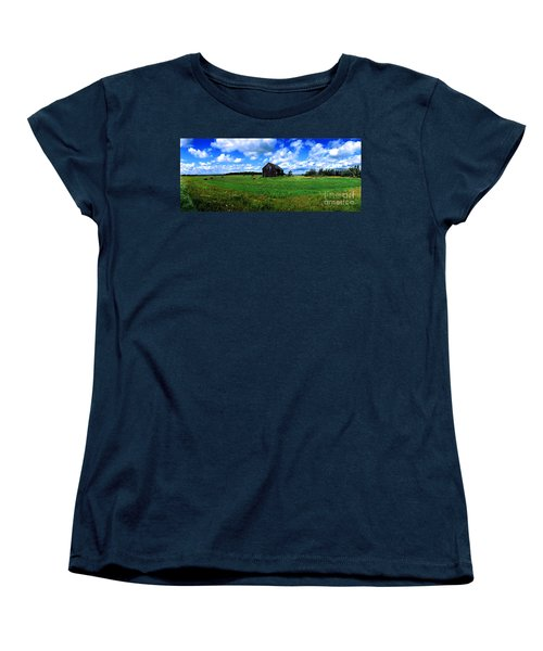 Women's T-Shirt (Standard Cut) featuring the photograph Brimley Farm Near  Sault Ste Marie Michigan  by Tom Jelen