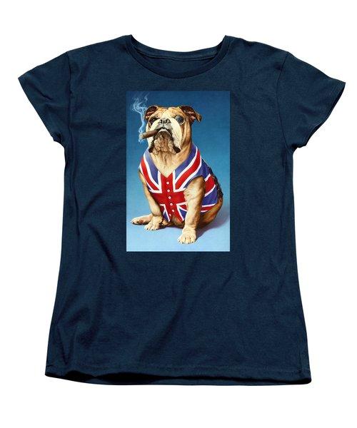 British Bulldog Women's T-Shirt (Standard Cut) by Andrew Farley