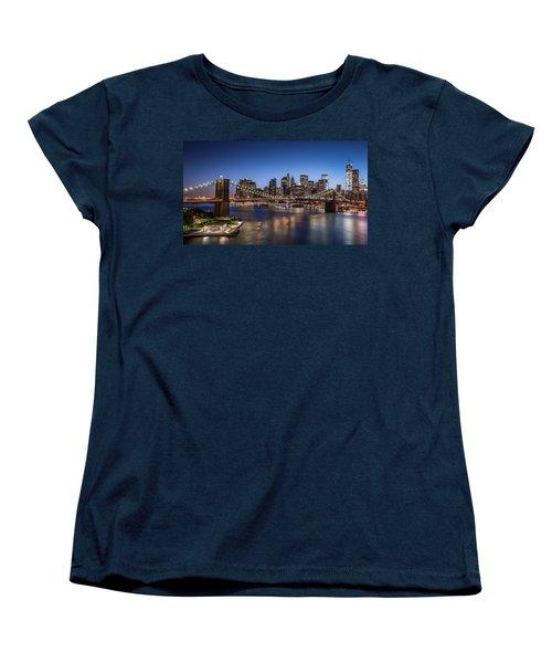 Women's T-Shirt (Standard Cut) featuring the photograph Brooklyn Bridge by Mihai Andritoiu