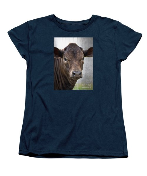 Brown Eyed Boy - Calf Portrait Women's T-Shirt (Standard Cut)