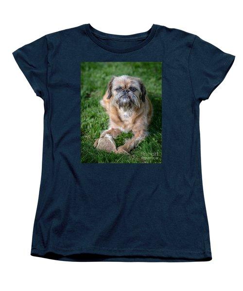 Brussels Griffon Women's T-Shirt (Standard Cut) by Edward Fielding