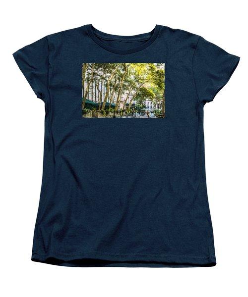 Bryant Park Midtown New York Usa Women's T-Shirt (Standard Cut) by Liz Leyden