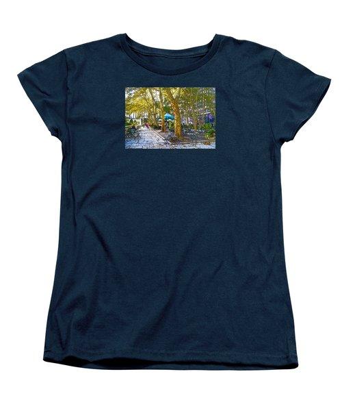 Bryant Park October Women's T-Shirt (Standard Cut) by Liz Leyden