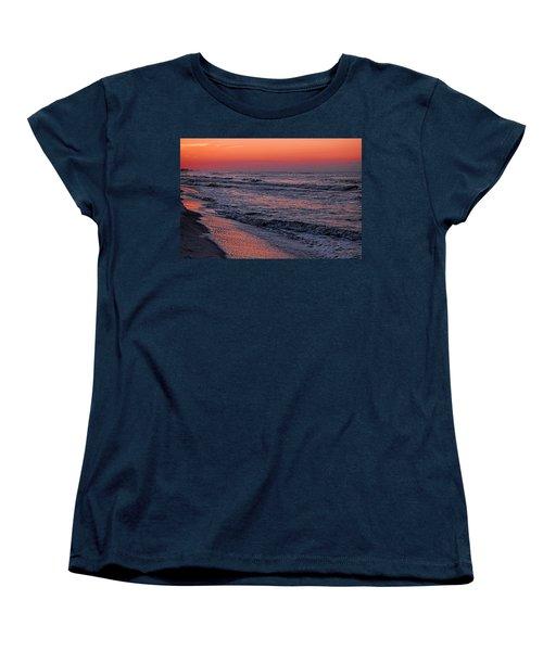 Women's T-Shirt (Standard Cut) featuring the digital art Bubbling Surf by Michael Thomas