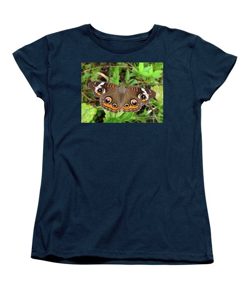 Women's T-Shirt (Standard Cut) featuring the photograph Buckeye Butterfly by Donna Brown