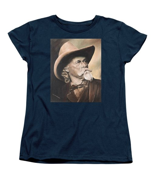 Women's T-Shirt (Standard Cut) featuring the painting Buffalo Bill Cody by Mary Ellen Anderson