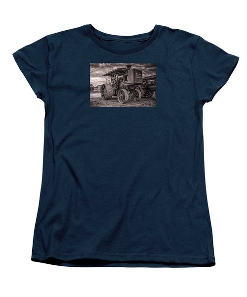 Buffalo Pitts Steam Traction Engine Women's T-Shirt (Standard Cut) by Shelly Gunderson