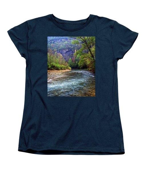 Buffalo River Downstream Women's T-Shirt (Standard Cut) by Marty Koch