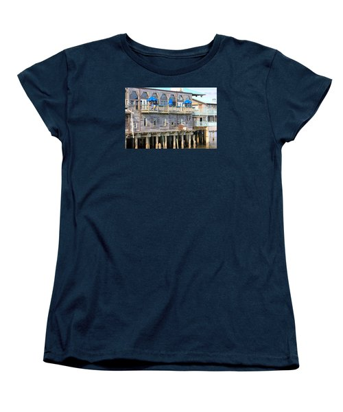 Building On Piles Above Water Women's T-Shirt (Standard Cut) by Lorna Maza