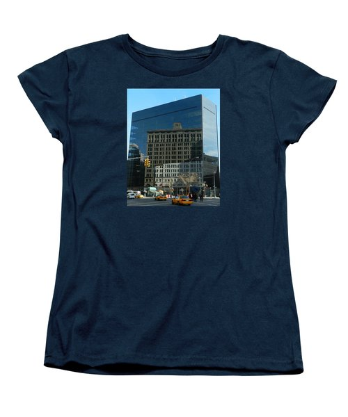 Women's T-Shirt (Standard Cut) featuring the photograph Building Reflections Nyc by Emmy Marie Vickers