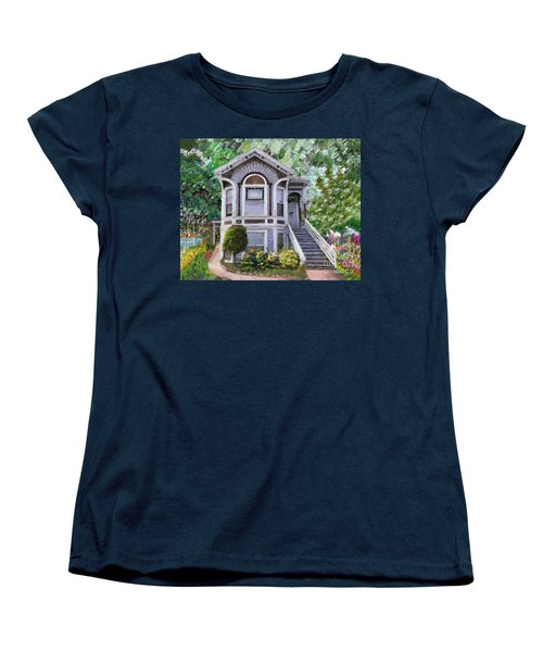 Alameda 1895 Queen Anne Women's T-Shirt (Standard Cut) by Linda Weinstock