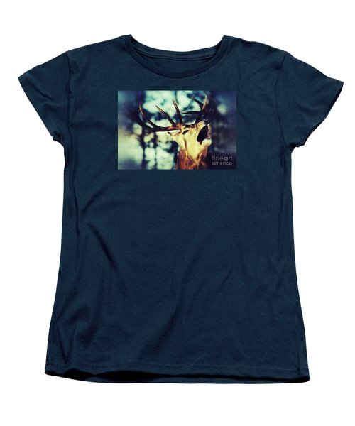 Burling Deer Women's T-Shirt (Standard Cut) by Nick  Biemans