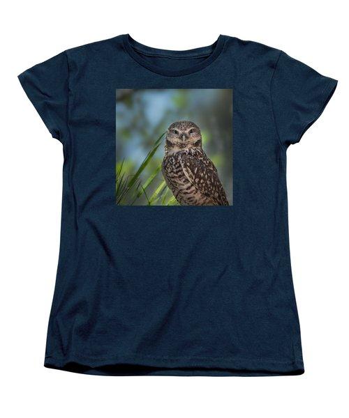 Burrowing Owl Women's T-Shirt (Standard Cut) by Linda Villers