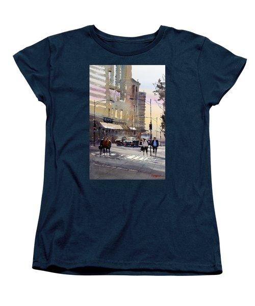 Bus Stop - Chicago Women's T-Shirt (Standard Cut) by Ryan Radke