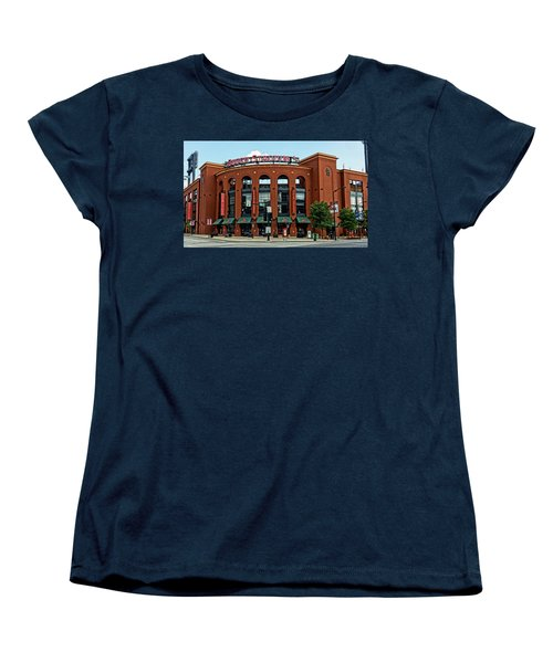 Busch Stadium Home Of The St Louis Cardinals Women's T-Shirt (Standard Cut) by Greg Kluempers