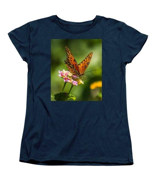 Busy Butterfly Women's T-Shirt (Standard Cut) by Jane Luxton