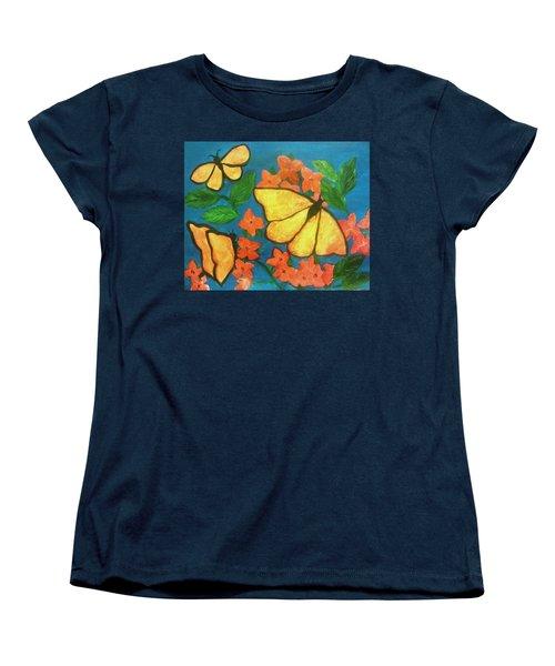 Butterflies Women's T-Shirt (Standard Cut) by Christy Saunders Church