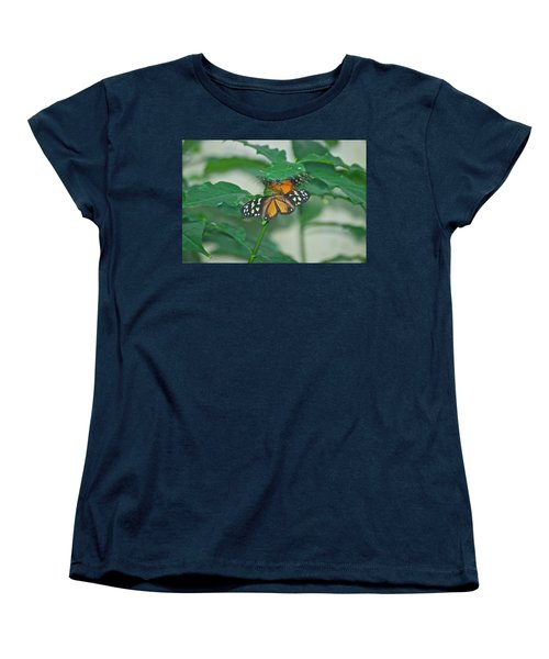 Women's T-Shirt (Standard Cut) featuring the photograph Butterflies Gentle Touch by Thomas Woolworth