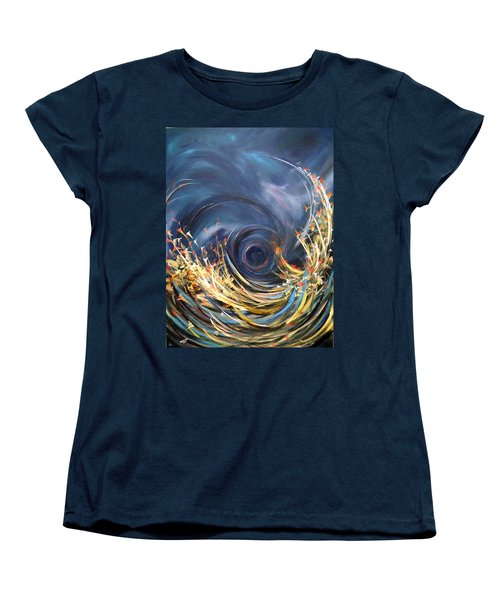 Women's T-Shirt (Standard Cut) featuring the painting Butterflies Migration by Dorothy Maier