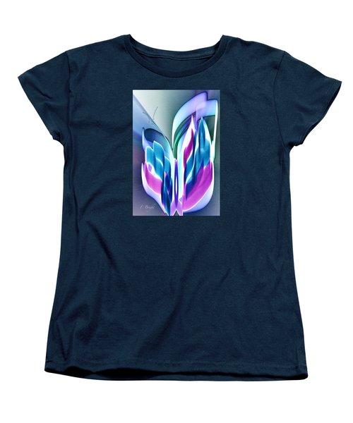 Women's T-Shirt (Standard Cut) featuring the digital art Butterfly Abstract 3 by Frank Bright