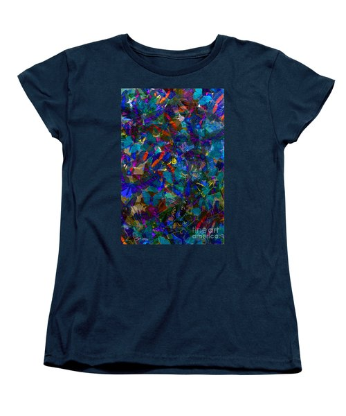 Women's T-Shirt (Standard Cut) featuring the photograph Butterfly Collage Blue by Robert Meanor