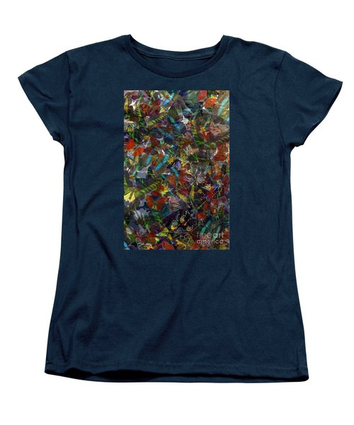 Women's T-Shirt (Standard Cut) featuring the photograph Butterfly Collage by Robert Meanor