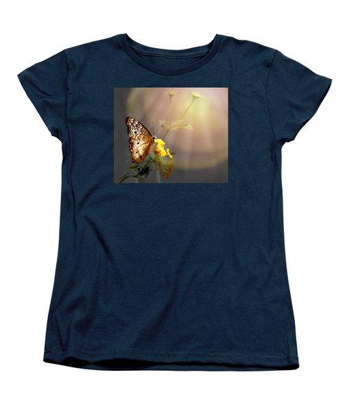 Butterfly Glow Women's T-Shirt (Standard Cut) by Judy Vincent