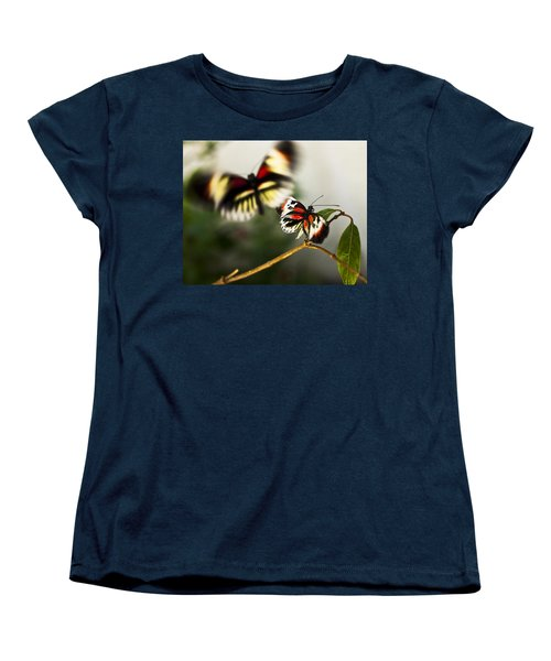 Women's T-Shirt (Standard Cut) featuring the photograph Butterfly In Flight by Bradley R Youngberg
