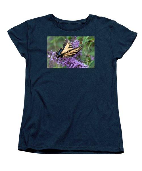Women's T-Shirt (Standard Cut) featuring the photograph Butterfly Landing by Greg Graham