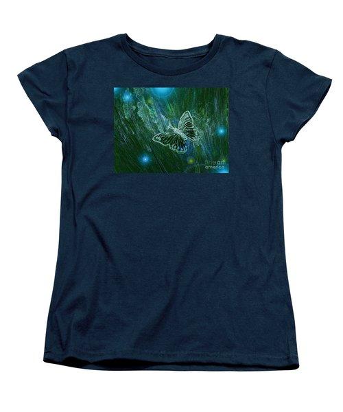 Butterfly Magic By Jrr Women's T-Shirt (Standard Cut) by First Star Art
