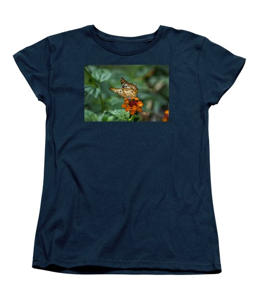 Women's T-Shirt (Standard Cut) featuring the photograph Butterfly Wings Of Sun Light by Thomas Woolworth