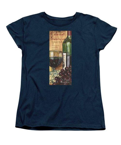 Cabernet Sauvignon Women's T-Shirt (Standard Cut) by Debbie DeWitt