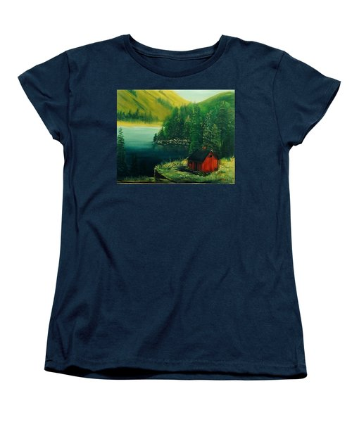 Cabin In The Catskills Women's T-Shirt (Standard Cut) by Catherine Swerediuk