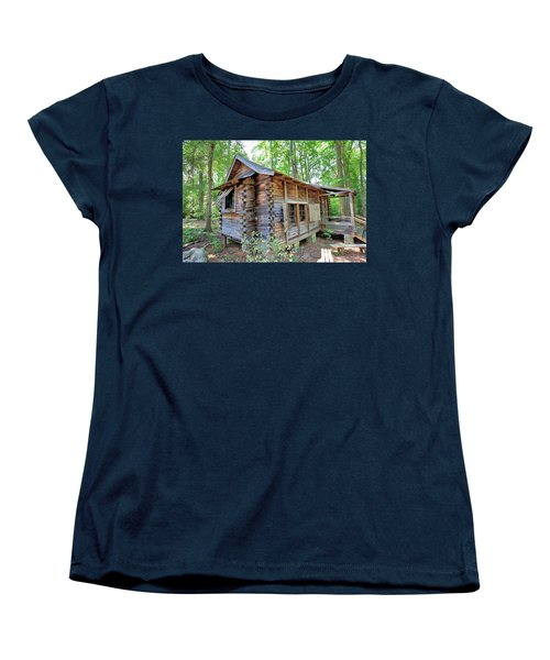 Women's T-Shirt (Standard Cut) featuring the photograph Cabin In The Woods by Gordon Elwell
